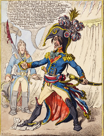 Gillray Napoleon Raging