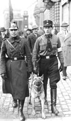 Polizeikontrolle in Berlin bei der Wahl 1933